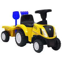 vidaXL Detský traktor New Holland žltý