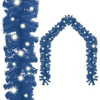 vidaXL Vianočná girlanda s LED svetielkami 20 m modrá