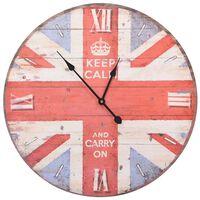 vidaXL Vintage nástenné hodiny UK 60 cm