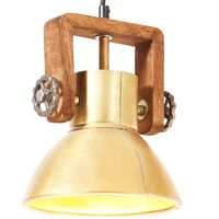 vidaXL Industriálna závesná lampa 25 W mosadzná 19 cm okrúhla E27