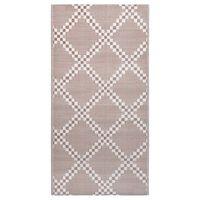 vidaXL Vonkajší koberec hnedý 120x180 cm PP