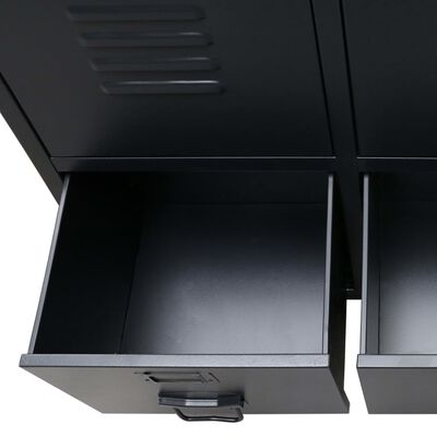 vidaXL Šatník, kov, industriálny štýl 67x35x107 cm, čierny