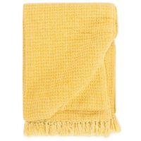 vidaXL Deka 125x150 cm horčicovo-žltá bavlnená