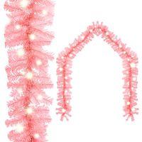vidaXL Vianočná girlanda s LED svetielkami 20 m ružová
