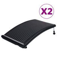 vidaXL Zakrivené bazénové solárne ohrievacie panely 2 ks 110x65 cm
