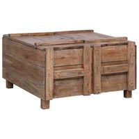 vidaXL Konferenčný stolík 65x65x38 cm, recyklovaný masív