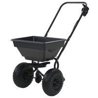 vidaXL Posypový vozík na soľ, PVC a oceľ 92x46x70 cm, 15 l