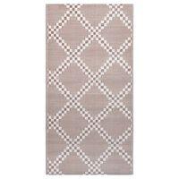 vidaXL Vonkajší koberec hnedý 80x150 cm PP