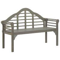 vidaXL Záhradná lavička ošúchaná sivá 135 cm akáciový masív