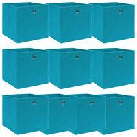 vidaXL Úložné boxy 10 ks bledomodré 32x32x32 cm látkové