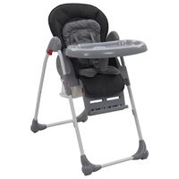 vidaXL Vysoká detská jedálenská stolička sivá