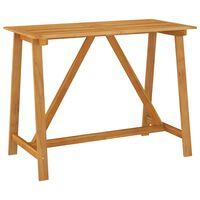 vidaXL Záhradný barový stôl 140x70x104 cm akáciový masív