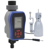 vidaXL Digitálny časovač zavlažovania s jedným výstupom a snímačom dažďa