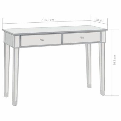 vidaXL Zrkadlový konzolový stolík, MDF a sklo 106,5x38 x76,5 cm