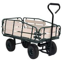 vidaXL Záhradný ručný vozík kov a drevo 250 kg