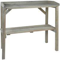 Esschert Design Záhradný pracovný stôl sivý NG75