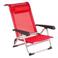 Bo-Camp Beach Chair Aluminium Red 1204793