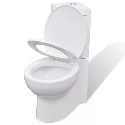 Biela keramická rohová toaleta WC