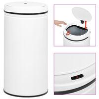 vidaXL Automatický odpadkový kôš, senzor 70 l, uhlíková oceľ, biely
