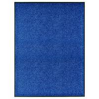 vidaXL Rohožka, prateľná, modrá 90x120 cm