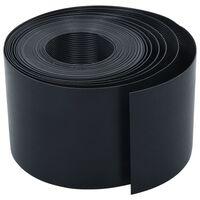 vidaXL Záhradný obrubník čierny 10 m 15 cm PE