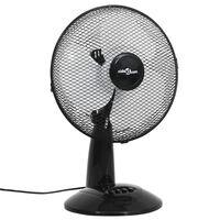 vidaXL Stolný ventilátor 3 rýchlosti 30 cm 40 W čierny