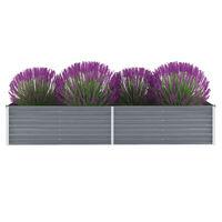 vidaXL Vyvýšený záhradný záhon, pozinkovaná oceľ 240x80x45 cm, sivý