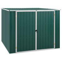 vidaXL Záhradná kôlňa zelená 195x198x159 cm pozinkovaná oceľ