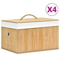 vidaXL Bambusové úložné boxy 4 ks