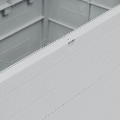 vidaXL Záhradný úložný box bledosivý 420 l