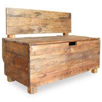 vidaXL Lavička z recyklovaného dreva, 86x40x60 cm
