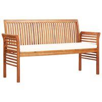 vidaXL 3-miestna záhradná lavica s vankúšmi 150 cm akáciový masív