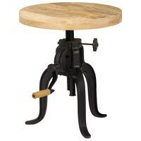 vidaXL Bočný stolík 45x (45-62) cm recyklované mangové drevo a liatina