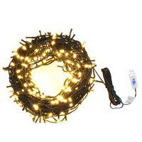 Svetelná reťaz so 400 LED diódami 40 m, 8 efektov, IP44, teplá biela
