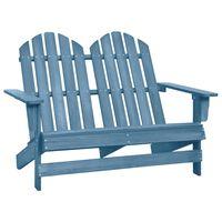 vidaXL 2-miestna záhradná stolička Adirondack jedľový masív modrá