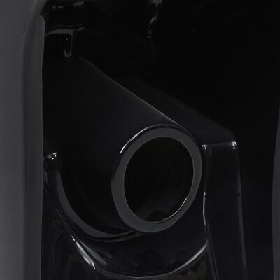 vidaXL Keramická toaleta, zadný odtok, čierna