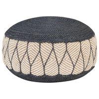 vidaXL Tkaná/pletená taburetka, juta a bavlna 50x30 cm modrá