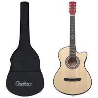 """vidaXL 12-dielna folková akustická gitara Cutaway so 6 strunami 38"""""""