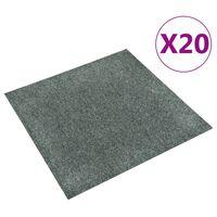 vidaXL Podlahové kobercové dlaždice 20 ks 5 m², zelené