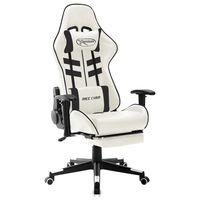 vidaXL Herná stolička bielo-čierna umelá koža