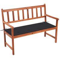 vidaXL Záhradná lavička s podložkou 120 cm akáciový masív