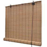 Hnedá roleta z prírodného bambusu 100 x 160 cm