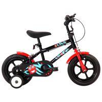 vidaXL Detský bicykel 12 palcový čierny a červený