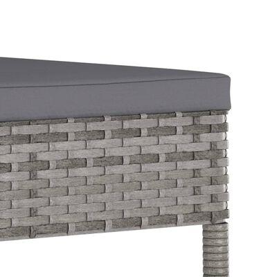 vidaXL 7-dielna záhradná jedálenská súprava polyratanová sivá