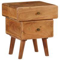 vidaXL Nočný stolík 40x35x49 cm masívne akáciové drevo