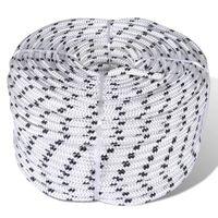 vidaXL Spletané lodné lano, polyester 12 mm x 50 m