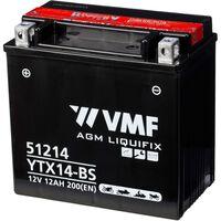 Batéria VMF Powersport Liquifix, 12 V 12 Ah MF YTX14-BS