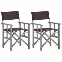 vidaXL Režisérske stoličky 2 ks, akáciový masív