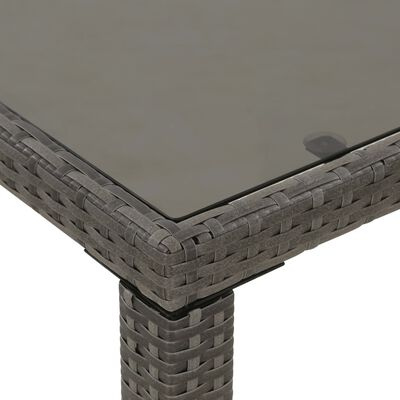 vidaXL 6-dielna vonkajšia jedálenská sada s vankúšmi polyratanová sivá