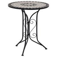 vidaXL Mozaikový bistro stolík, sivý 61 cm, keramika